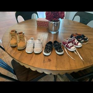 5 pairs of toddler boy shoes
